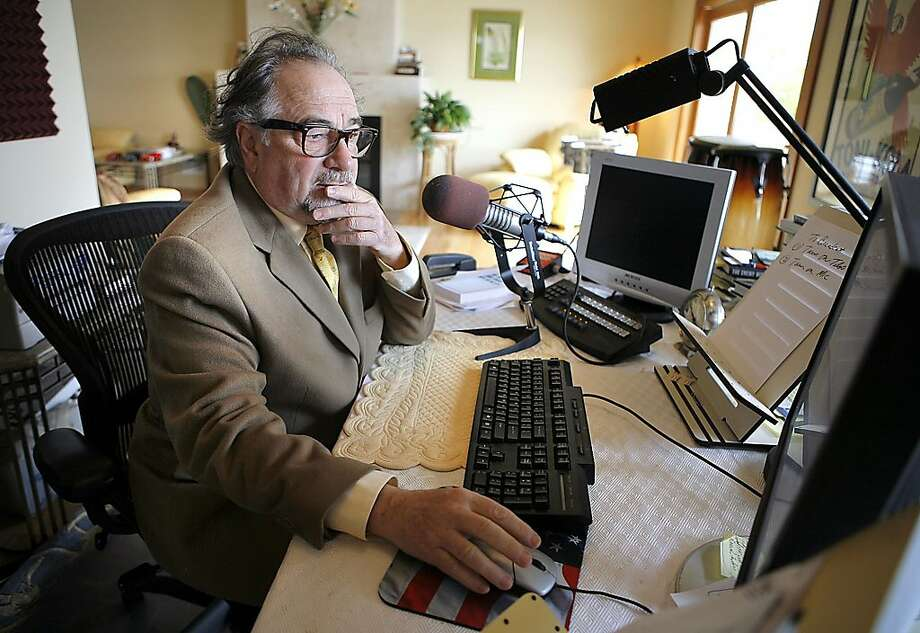 """FILE -  This Dec. 3, 2007 file photo shows radio talk show host Michael Savage in Tiburon, California. On Tuesday May 5, 2009 Britain published a list of people barred from entering the country for what the government describes as fostering extremism or hatred. The list includes popular American talk-radio host, Michael Savage, who broadcasts from San Francisco and has called the Muslim holy book, the Quran, a """"book of hate."""" Savage also has enraged parents of children with autism by saying in most cases it's """"a brat who hasn't been told to cut the act out."""" Photo: John Storey, AP"""