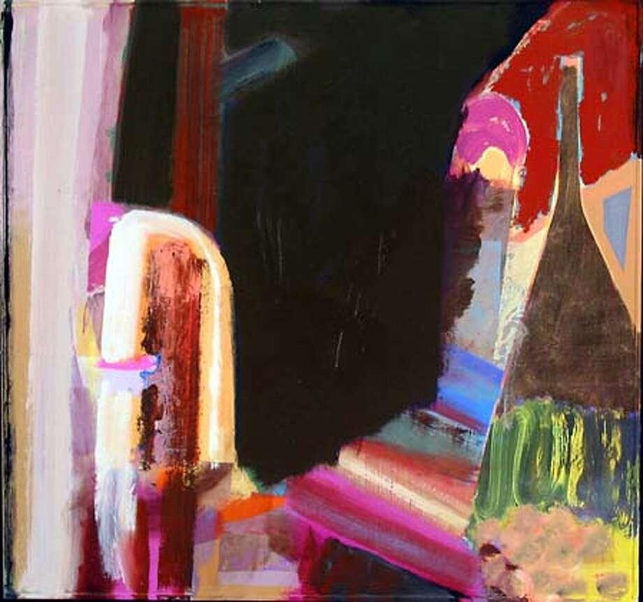 "GALS14.JPG A Small Fire  by Dan Connally, 2004  Oil on board  40-3/4"" X 43-1/2"" HANDOUT"