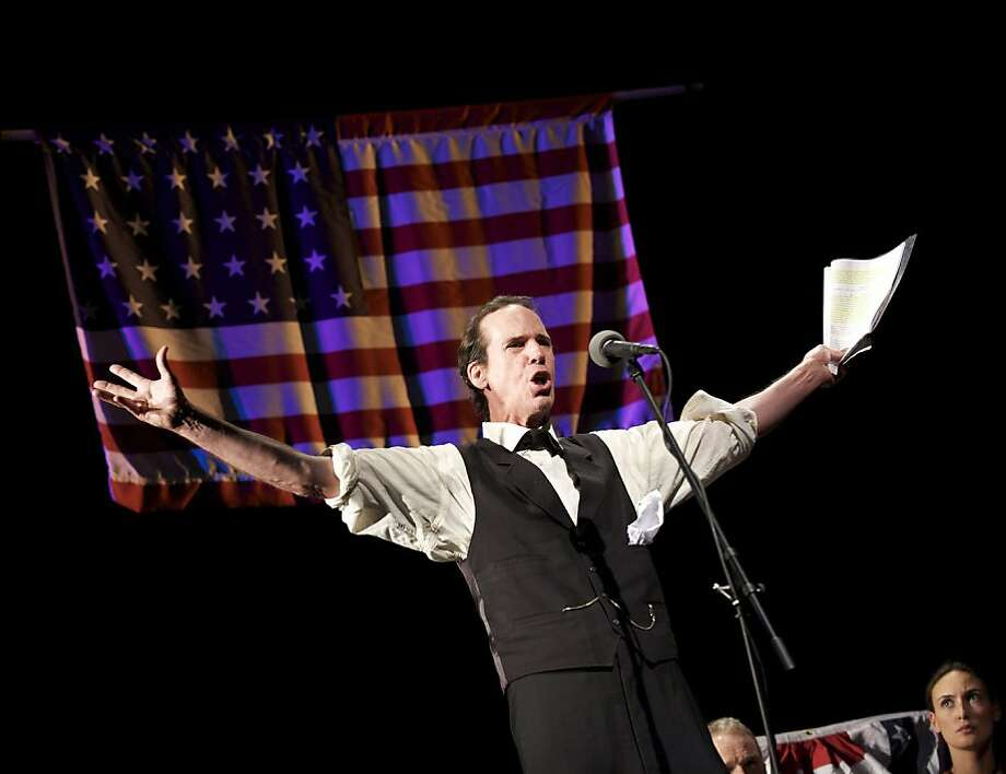 Robert Parsons as Abraham Linocln. L.A. Theatre Works presents THE RIVALRY Sunday, January 29, 4 pm The Rivalry, Norman Corwin�s riveting depiction of the Lincoln-Douglas debates, uses original dialogue to bring to life the fierce competition between the future President and the incumbent Senator as they tackled the most controversial issues - slavery and the American concept of freedom.   Robert Parsons, who starred in the acclaimed production of The Rivalry at Ford�s Theatre in Washington last year, will recreate the role of Abraham Lincoln.   Stephen Douglas will be played by the fine television and film actor Josh Clark who has a long list of roles in; Heroes, Star Trek: Voyager, Pretty Little Liars, and All My Children.   As the 150th anniversary of the Civil War is commemorated, The Rivalry  raises questions of values and rights that are still being debated and remain unresolved today: race, social and economic inequity, states� rights and the role of the government in the lives of its citizens.  Tkts:  $42 - $55 Kanbar Hall, JCCSF, 3200 California St Box Office:  415/292-1233 or www.jccsf.org/arts Photo: Matt Petit
