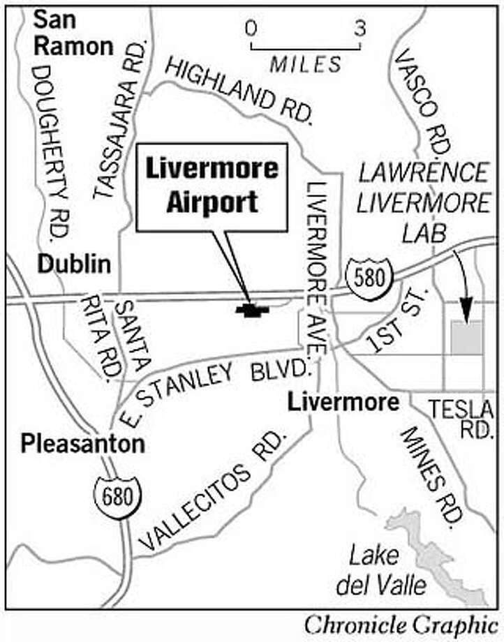 Livermore Airport. Chronicle Graphic Photo: Joe Shoulak
