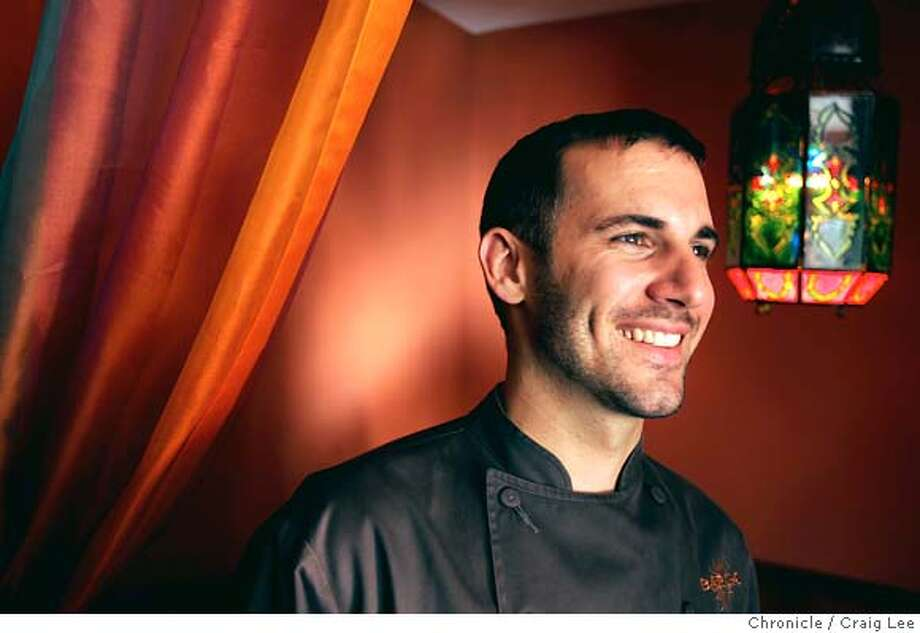This is for the 2004 Rising Star Chefs to be published in the Sunday magazine on January 30th. This is David Bazirgan, chef at Baraka in Potrero Hill. His dish is braised short ribs.  Event on 12/24/04 in San Francisco. Craig Lee / The Chronicle Photo: Craig Lee