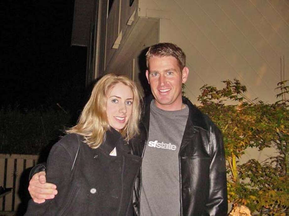CRASH11 Jeremy Bodeman, of San Francisco, pictured with  his fiancee, Kristen Peterson, in Napa last November 2003 when he proposed to her.� Photo Courtesy Joan Bodeman