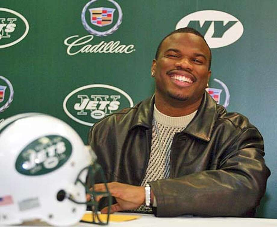 Curtis Conway during press conference on Thursday March 20, 2003 at the Jets facility at Hofstra.