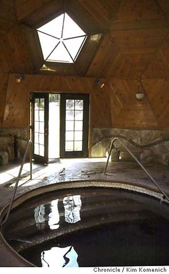 Interior of one of the geodesic domes housing hot springs at Sierra Hot Springs in Sierraville, Calif  Photo Courtesy Sierra Hot Springs.