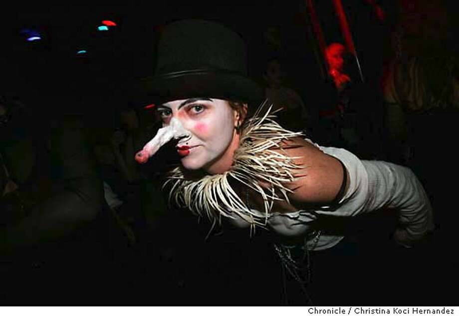 """JL9F4441.JPG  Didn't give name.Fifth Annual Edwardian Ball. From Flavorpill: Ghoulish garb, fanciful theater, preposterous puppetry, morbid music, devious dancing, and much more mischief abounds at """"The Evil Garden,"""" the Fifth Annual Edwardian Ball. Based on the atmosphere of delightfully deadly tales by late author/illustrator Edward Gorey, the Ball encourages attendees to dress up in period-appropriate attire (basically 1901-1919) � meaning long jackets, top hats, and walking sticks for the men, and corsets, ornate dresses, and white gloves for the women. .CHRISTINA KOCI HERNANDEZ/CHRONICLE Photo: CHRISTINA KOCI HERNANDEZ"""