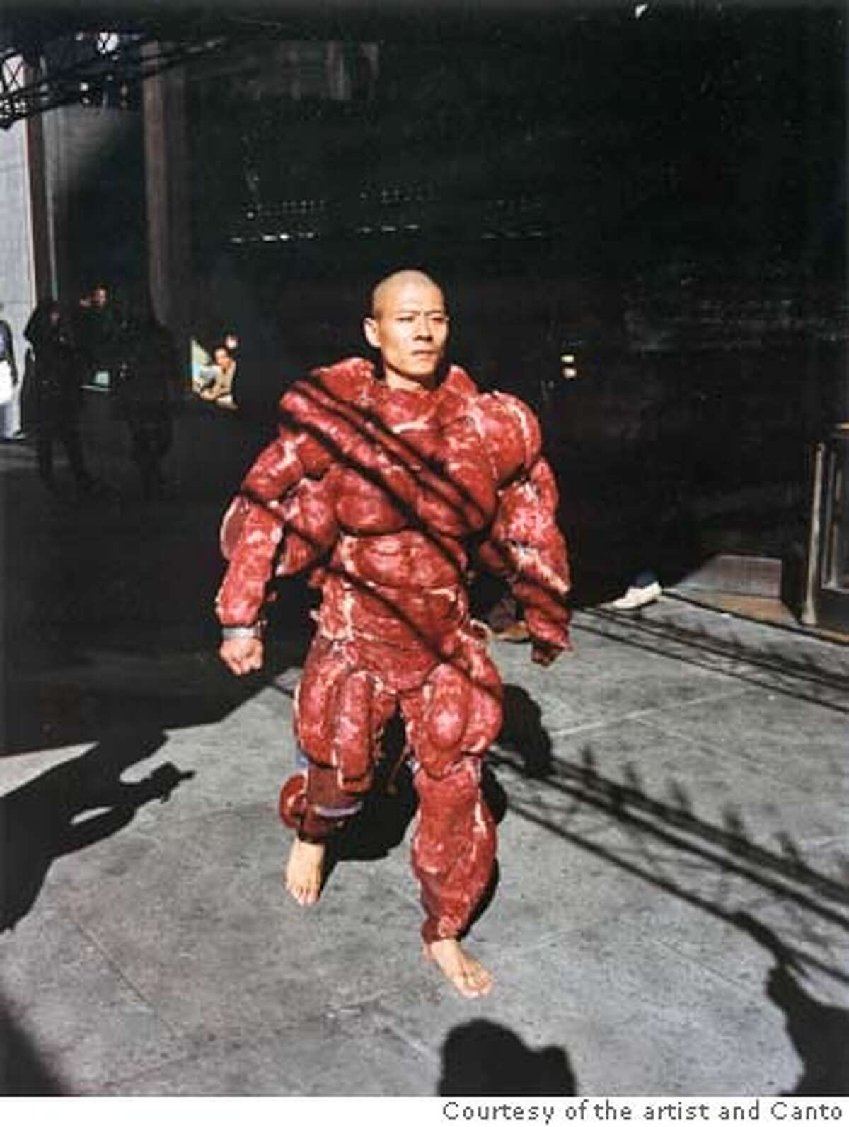 """""""My New York: #4"""" (2002) Chromogenic print by Zhang Huan. Courtesy of the artist and Cantor Center for Visual Arts, Stanford University"""