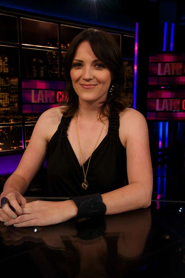 "Jen Kirkman on the set of ""Chelsea Lately."" Photo: E!"