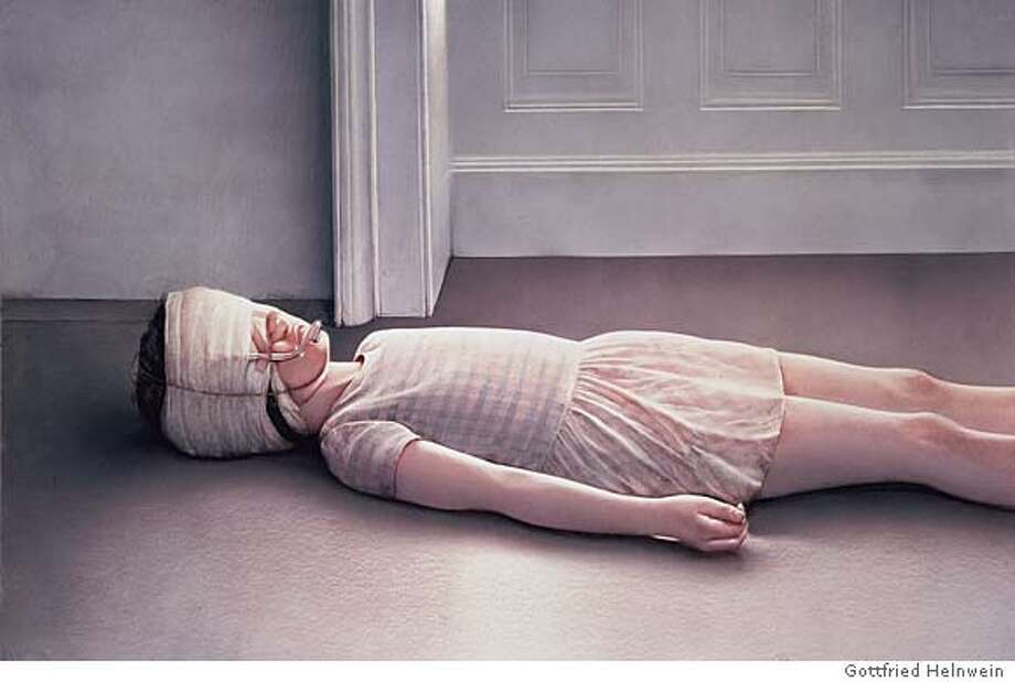 Beautiful Victim I� (1974) is a photorealistic watercolor work on cardboard by Gottfried Helnwein. Many of the Austrian�s works have upset viewers in Germany.