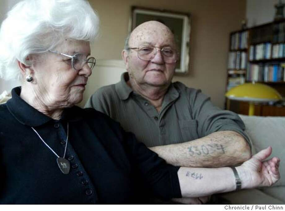 auschwitz2_081_pc.jpg  Linda Breder and her husband Friderich, cq, have lived with unwanted tattoos for most of their lives. Auschwitz survivors Friderich, cq, and Linda Breder at their Sunset district home on 1/25/05 in San Francisco, CA.  PAUL CHINN/The Chronicle MANDATORY CREDIT FOR PHOTOG AND S.F. CHRONICLE/ - MAGS OUT Photo: PAUL CHINN