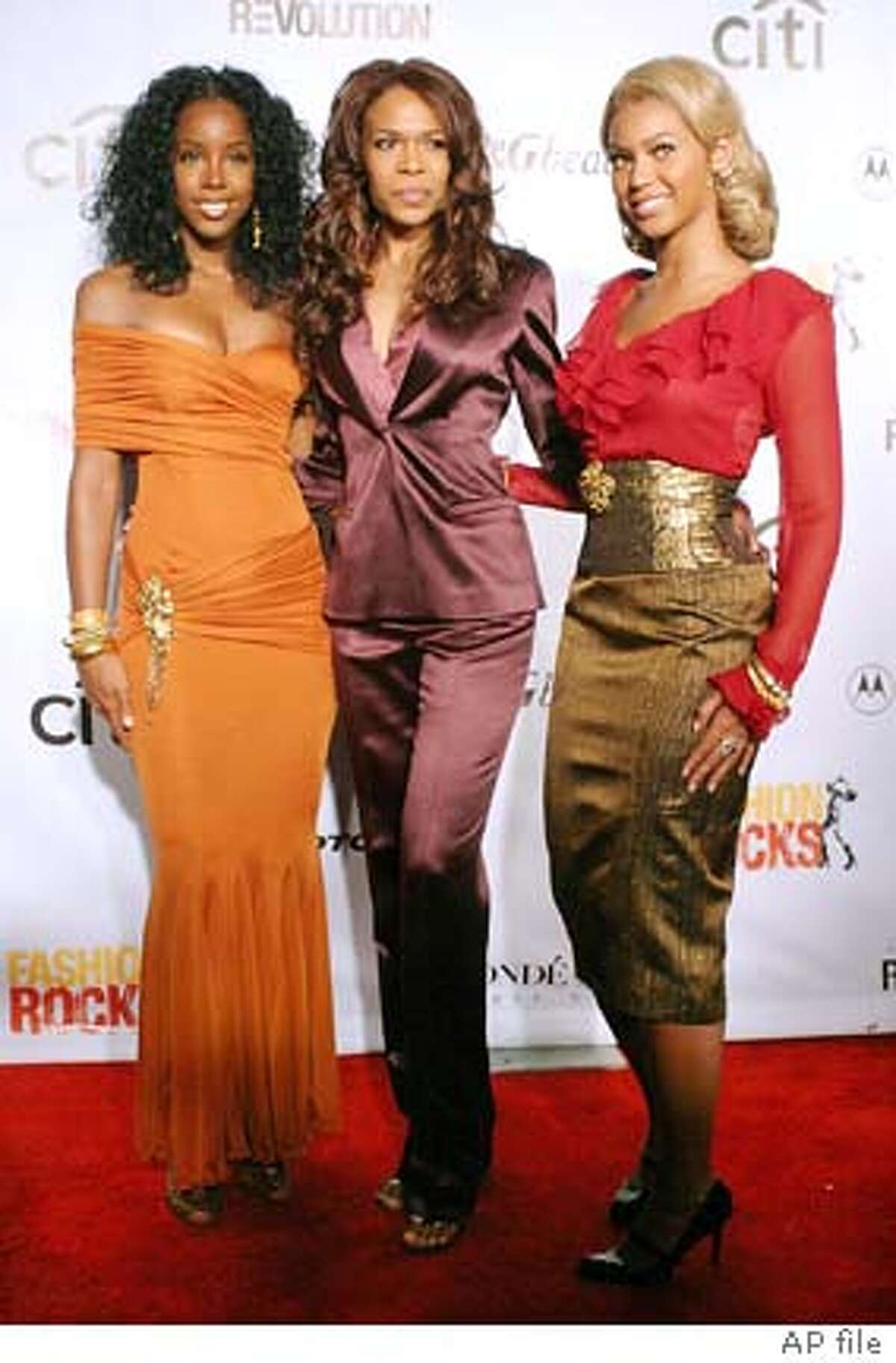 **FILE** Members of Destiny's Child, from left, Kelly Rowland, Michelle Williams and Beyonce Knowles arrive for the
