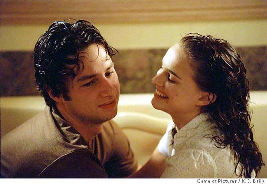 "Zach Braff as Andrew Largeman and Natalie Portman as Samantha appear in a scene from Fox Searchlight Films' ""Garden State, "" in this undated publicity photo. (K.C. Baily, Camelot Pictures / K.C. Baily) Ran on: 08-08-2004  Zach Braff and Natalie Portman in &quo;Garden State.&quo; Photo: K.C. BAILY"