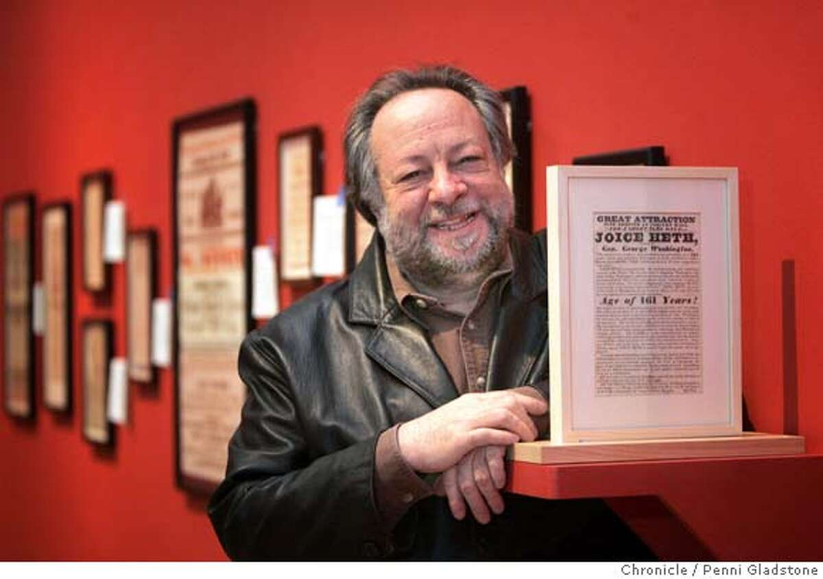 JAY24027.JPG Ricky Jay, a collector of absurdities at the Yerba Buena Center for the Performing Arts. The San Francisco Chronicle, Penni Gladstone Photo taken on 1/20/05, in San Francisco,
