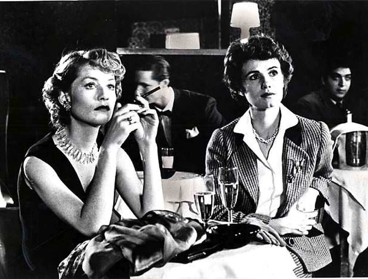 Isabelle Huppert (left) and Miou Miou in