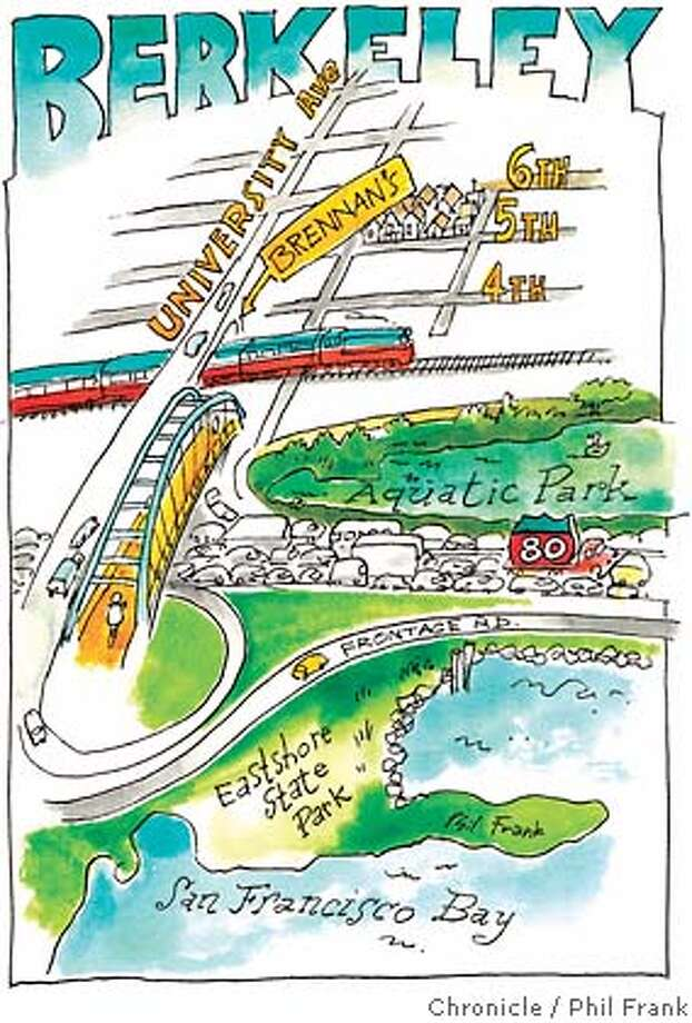 Berkeley. Chronicle illustration by Phil Frank
