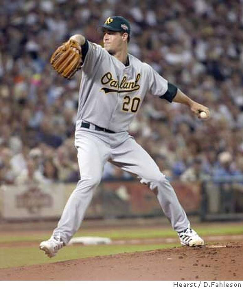 All Star Game at Minute Maid Park,7/13/2004Houston,Texas:Mark Mulder pitches in the first inning. digital image Photo: D.Fahleson
