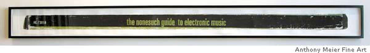 """""""Various Artists: the nonesuch guide to electronic music (Beaver & Krause)"""" (2005) acrylic on paper by Dave Muller"""