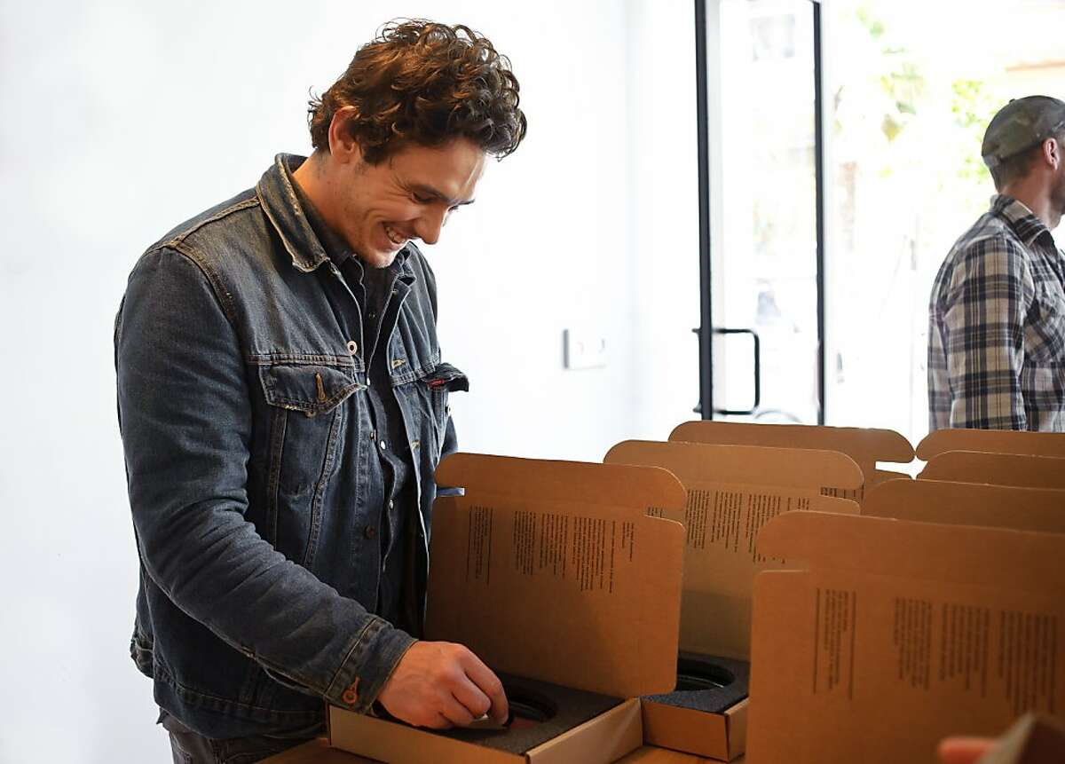 James Franco working on his issue (number 14) at The Thing Quarterly office, San Francisco May 2011.