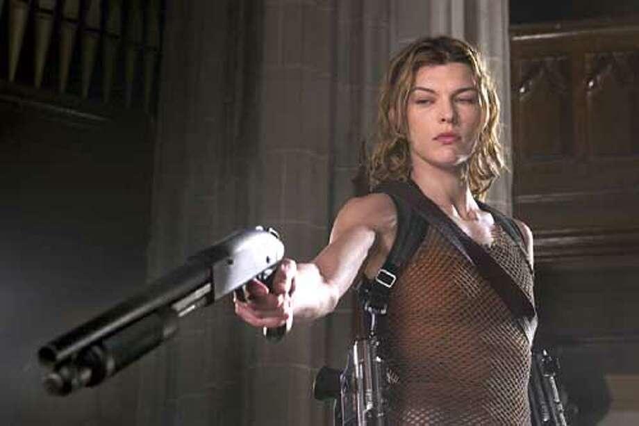 "Milla Jovovich in ""Resident Evil: Apocalypse,"""