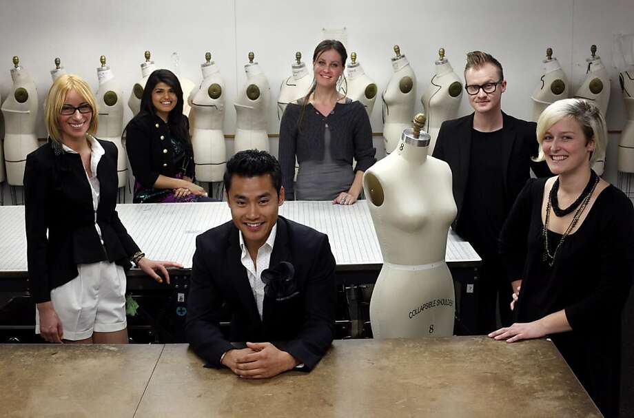 From left, Tamara Jaric, Sabah Mansoor, Tony Sananikone, Paloma Von Broadley, Justin Jamison and Bethany Meuleners are the winners of the first Fashion Incubator San Francisco class.  They are photographed at California College of the Arts in San Francisco, Calif., Monday, January 23, 2012. Photo: Sarah Rice, Special To The Chronicle