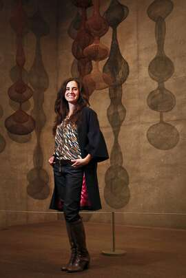 Fashion designer Erica Tanov stands in the Ruth Asawa gallery at the de Young Museum on Monday, Dec. 12, 2011 in San Francisco, Calif.