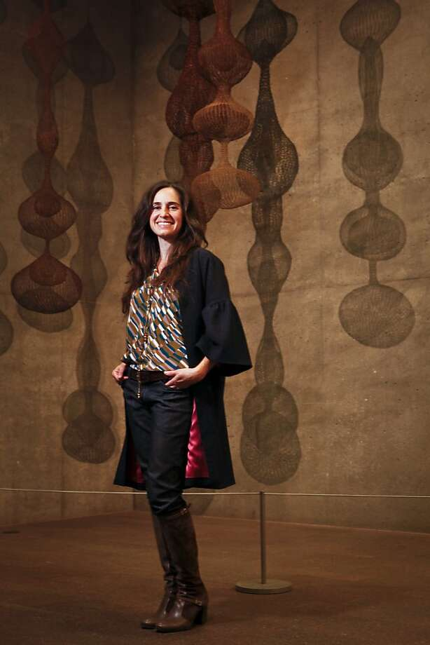 Fashion designer Erica Tanov stands in the Ruth Asawa gallery at the de Young Museum on Monday, Dec. 12, 2011 in San Francisco, Calif. Photo: Russell Yip, The Chronicle