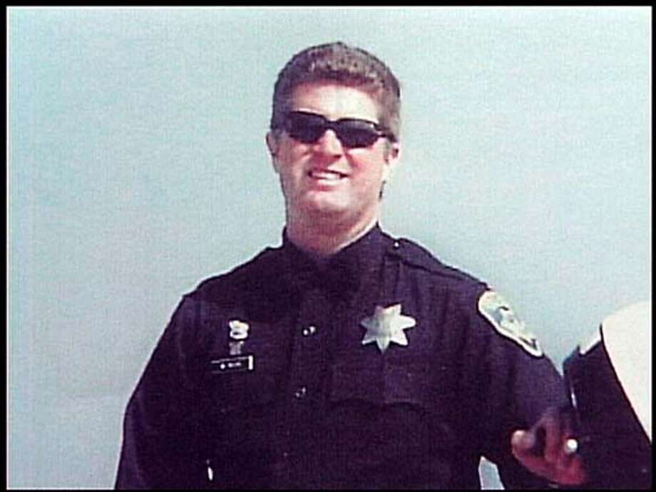"Officer William ""Will"" Seuis (sp) Oakland Police Dept. morotcycle officer was struck by a hit and run driver and killed.  handout."
