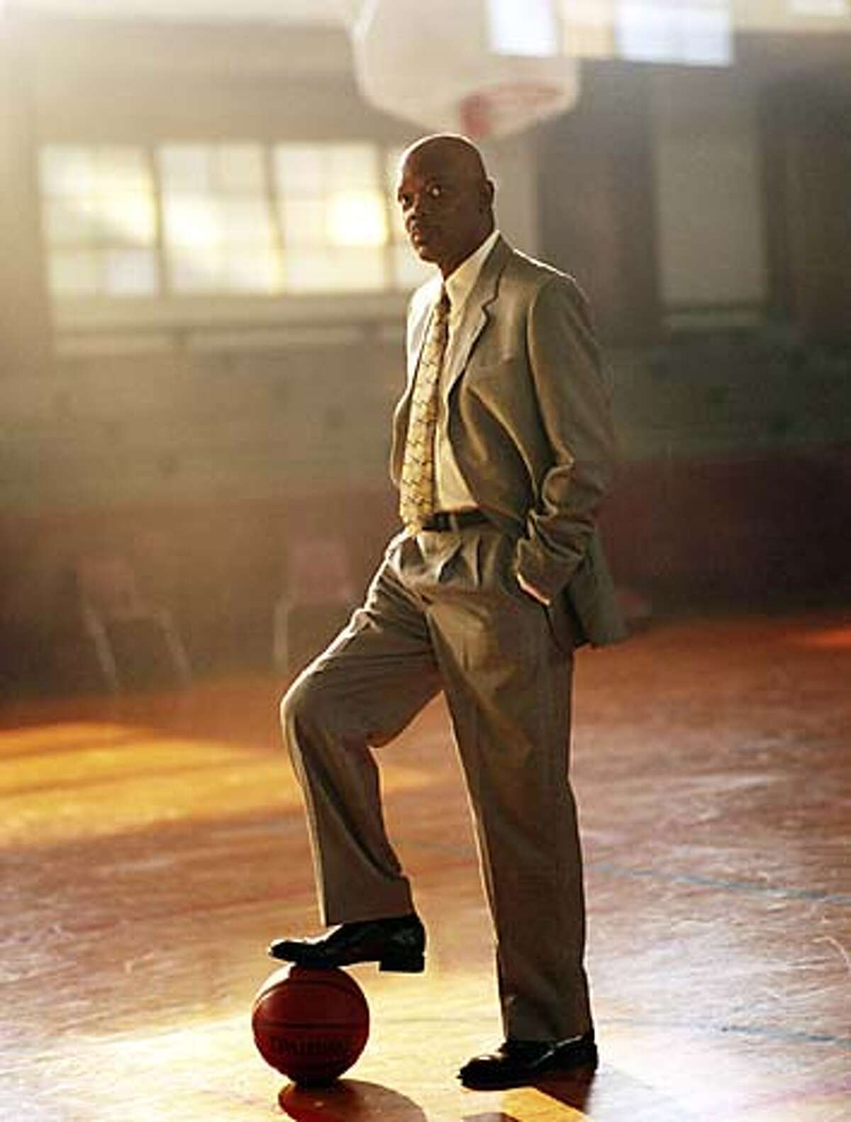 In this photo provided by Paramount Pictures, Samuel L. Jackson as coach Ken Carter in