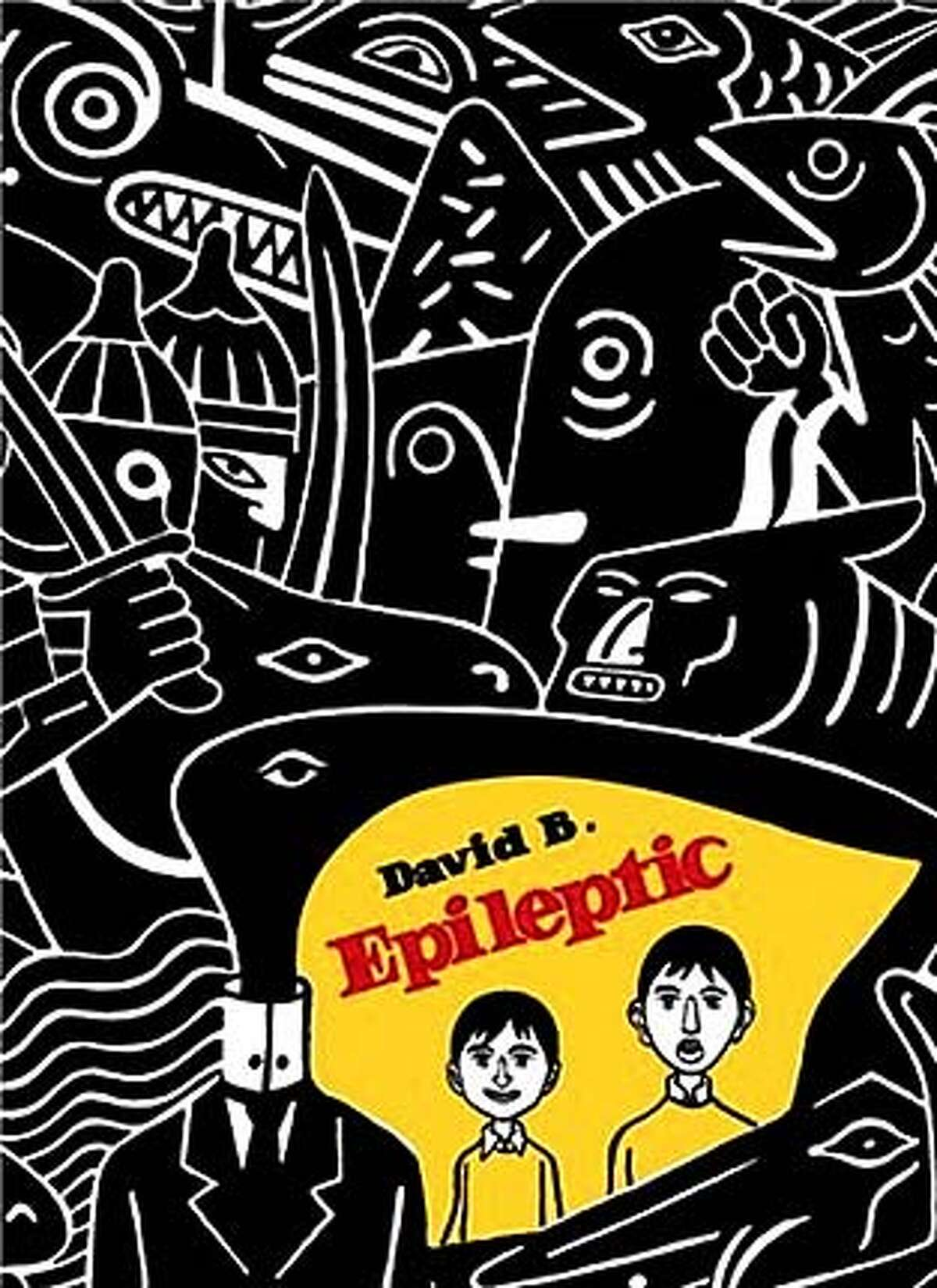 """Book cover art for, """"Epileptic""""."""