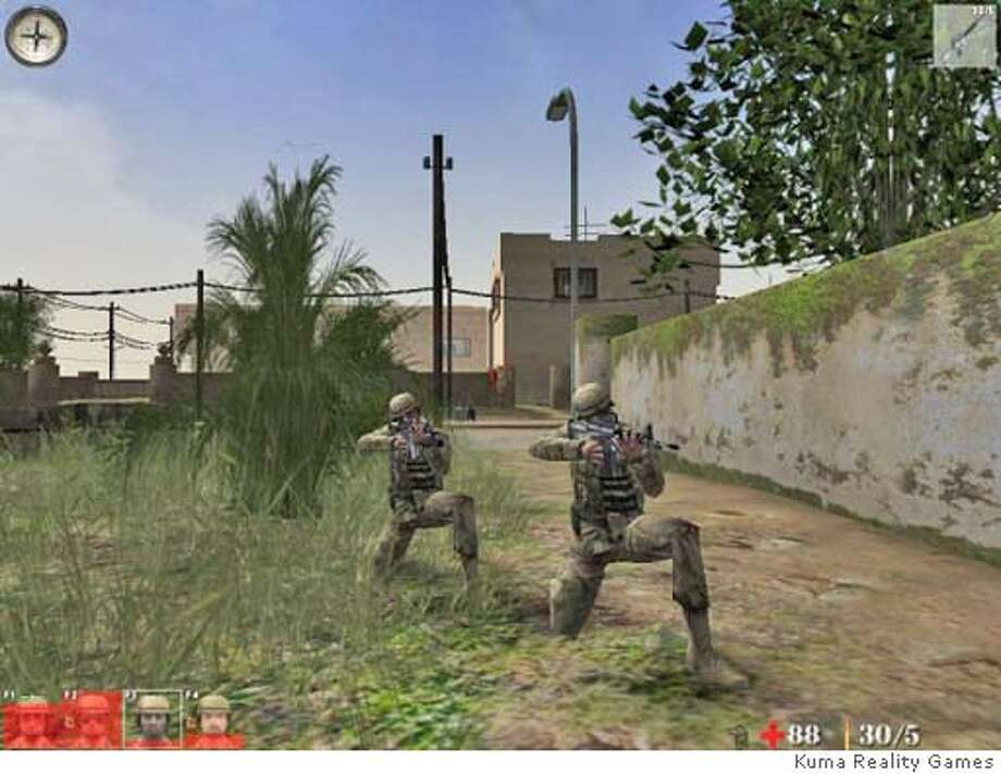 Kuma Reality Games. A series of games based on incidents in Iraq. frame grab from site.