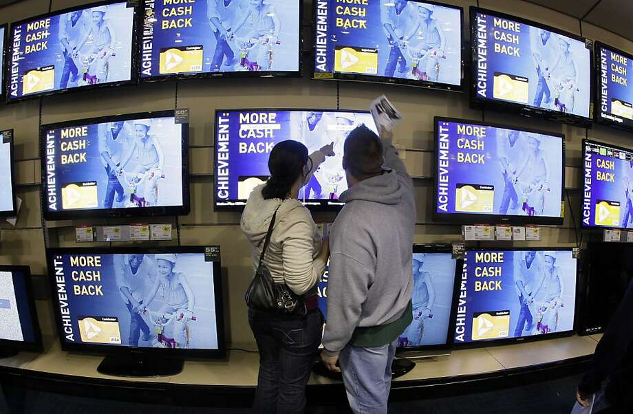 Best Buy, like San Francisco's SquareTrade, does a profitable business in extended warranty sales. Photo: Mark Humphrey, Associated Press