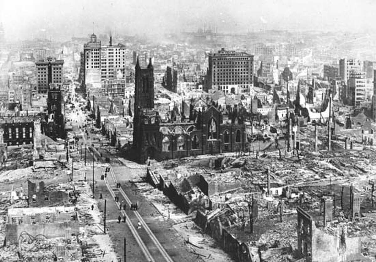 This is an April 1906 photo of the earthquake damage in San Francisco, Calif. (AP Photo)