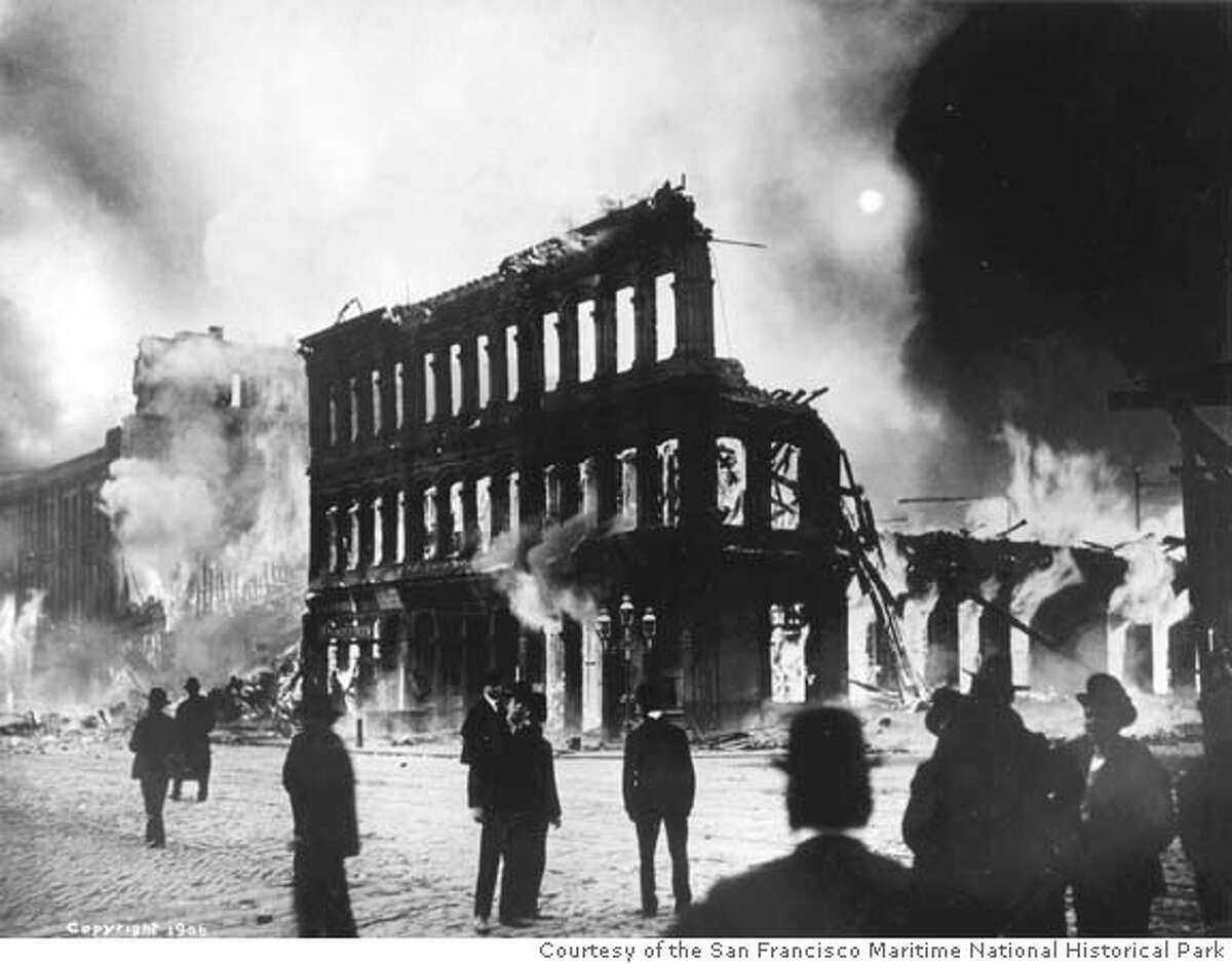 DOC09B/C/03FEB99/DD/HO-San Francisco during the 1906 fire. MUST CREDIT: Courtesy of the San Francisco Maritime National Historical Park. HANDOUT