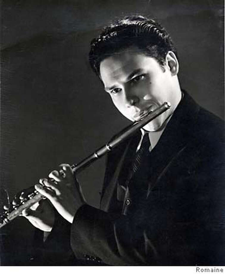 May 1947  Paul Renzi, show at age 21.  Solo Flutist with the San Francisco Symphony  Photo by Romaine  220 Jones St. San Francisco Ran on: 07-26-2004  Paul Renzi plays his last concert this week.