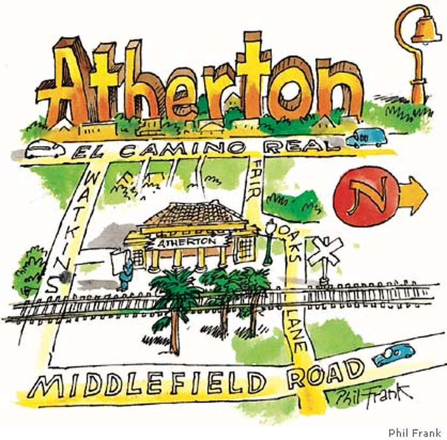 Atherton. Chronicle illustration by Phil Frank