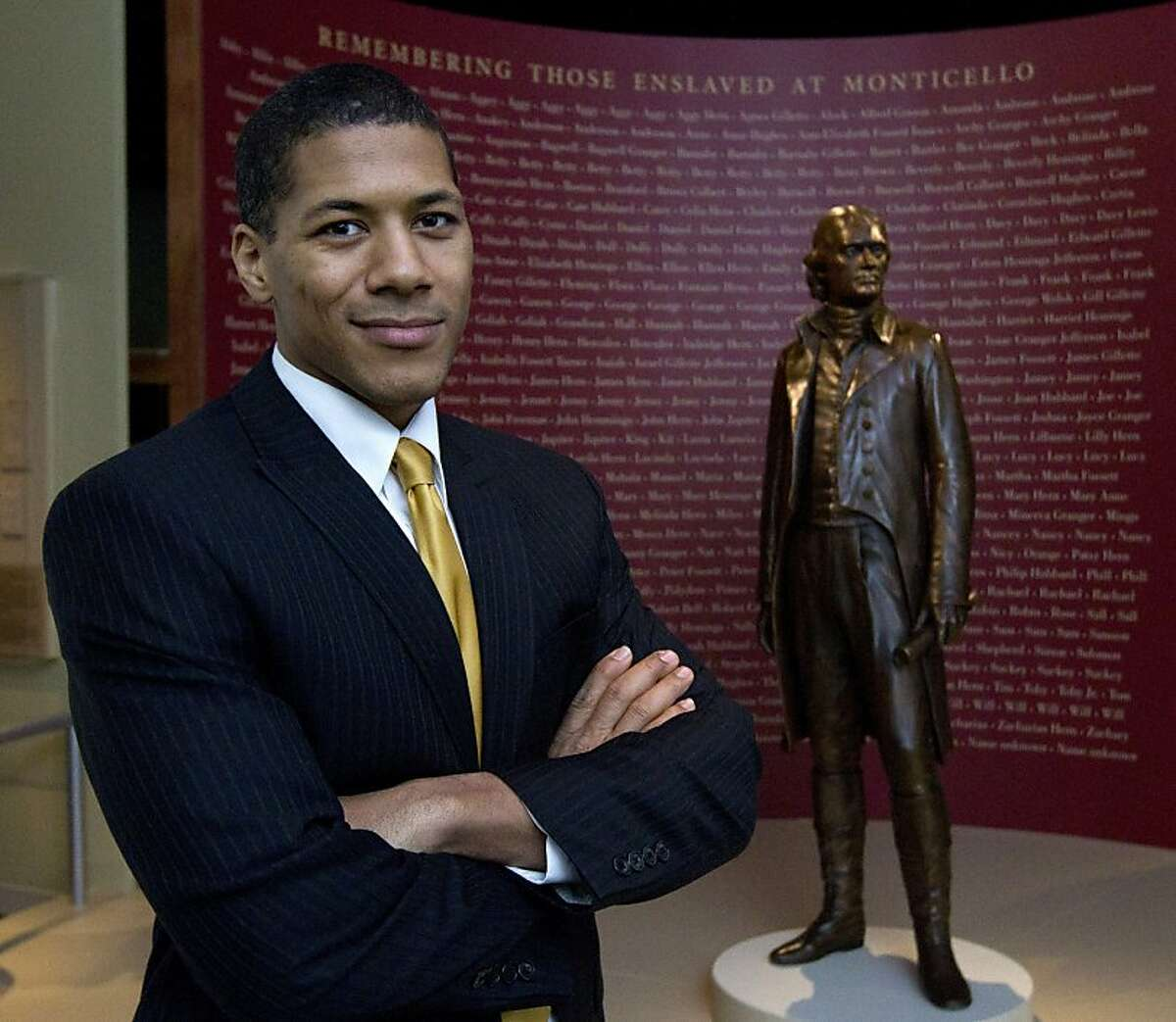 Shannon Lanier poses at the Smithsonian's National Museum of American History in Washington, Wednesday, Jan. 25, 2012, new exhibit: