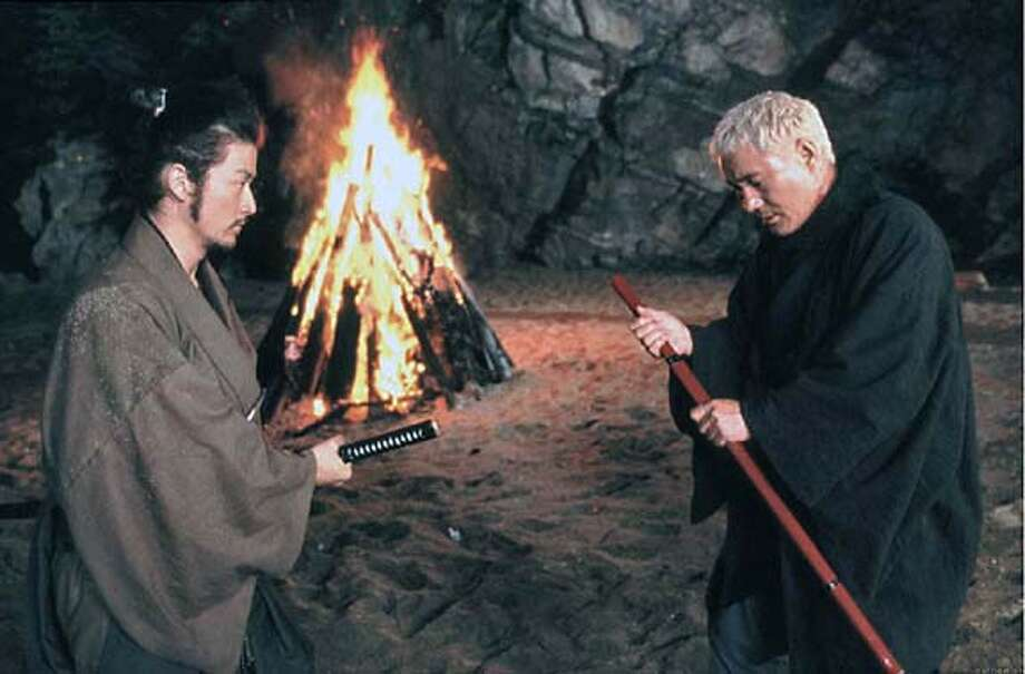 "Tadanobu Asano (left) and Takeshi Kitano (also director) in ""The Blind Swordsman: Zatoichi"" Photo: Miramax"