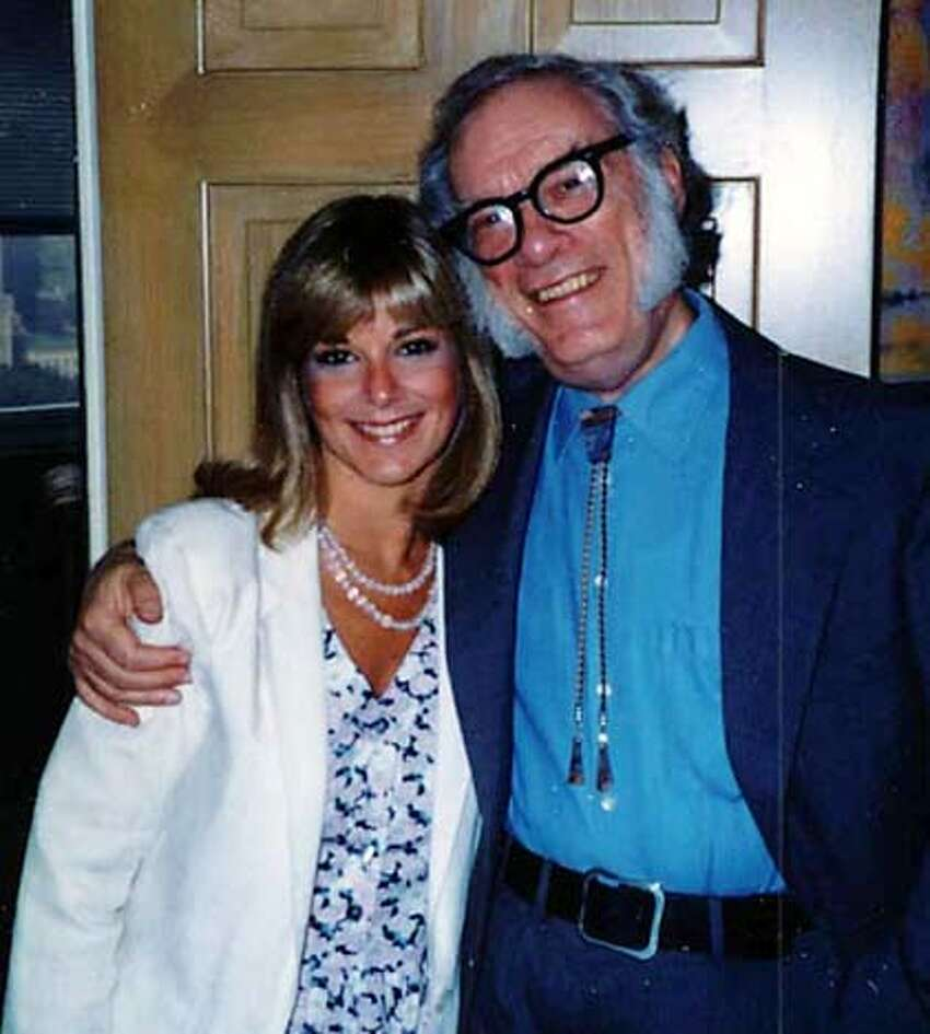 sci-fi writer Isaac Asimov and his daughter, Robyn.