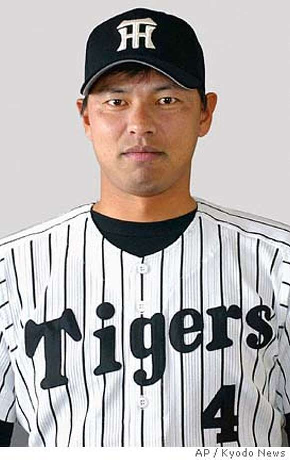 Kiichi Yabu of the Hanshin Tigers is shown in this undated photo. The Oakland Athletics are close to finalizing a contract with free agent right-handed pitcher Keiichi Yabu. The deal is pending a physical, which was scheduled for Wednesday, Jan. 12, 2005. (AP Photo/Kyodo News) ** JAPAN OUT ** JAPAN OUT UNDATE FILE PHOTO