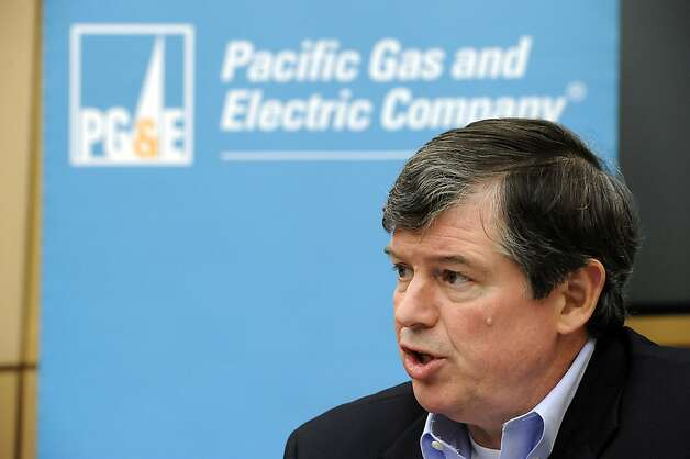 PG&E's CEO, Anthony Earley during a press conference at PG&E headquarters in San Francisco last December. The company has asked California regulators to raise a typical homeowner's monthly bill 15.6 percent by 2016. Photo: Michael Short, SPECIAL TO THE CHRONICLE