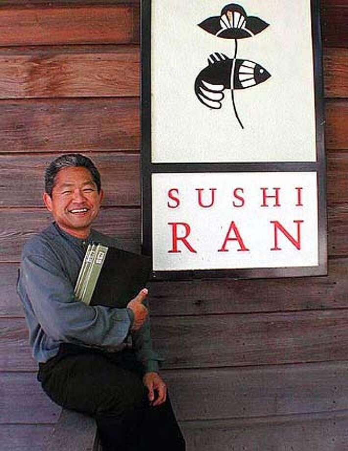 nbyoshitome13.JPG Yoshi Tome, owner of Sushi Ran in Sausalito HANDOUT