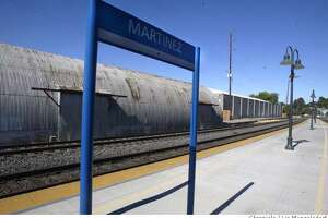 Event on 7/22/04 in Martinez.  Warehouses sit across the tracks from the Martinez Amtrak Station. They would be torn down in a proposed redevelopement plan.  Liz Mangelsdorf / The Chronicle