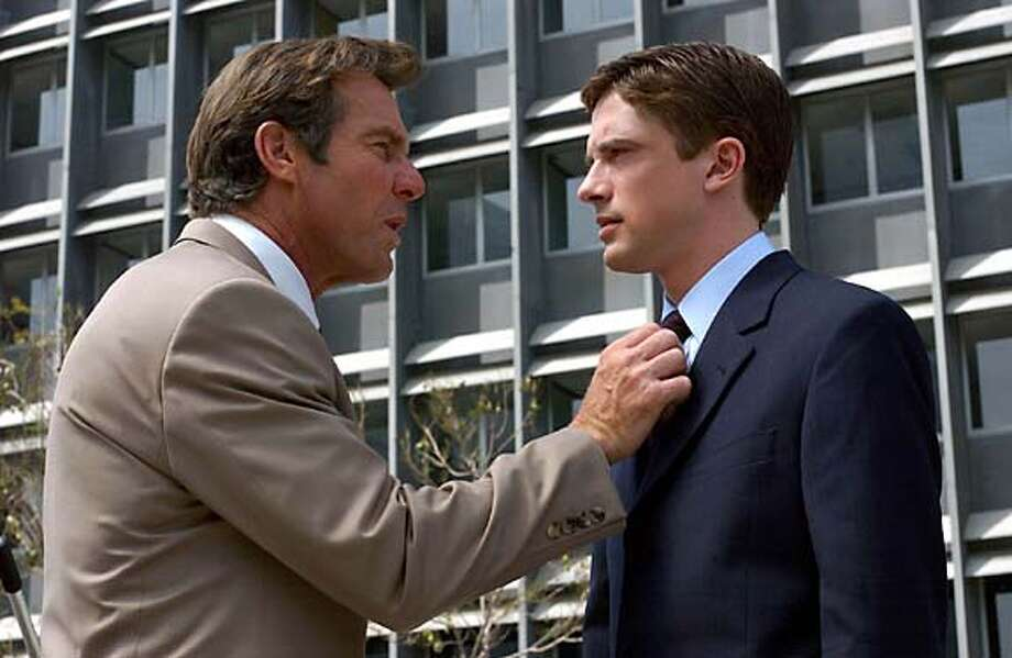 """In this photo provided by Universal Studios, Dan Foreman (Dennis Quaid, left) and his boss, Carter Duryea (Topher Grace) , in the comedy """" In Good Company."""" (AP Photo/Universal Studios/ Glen Wilson) Photo: GLEN WILSON"""