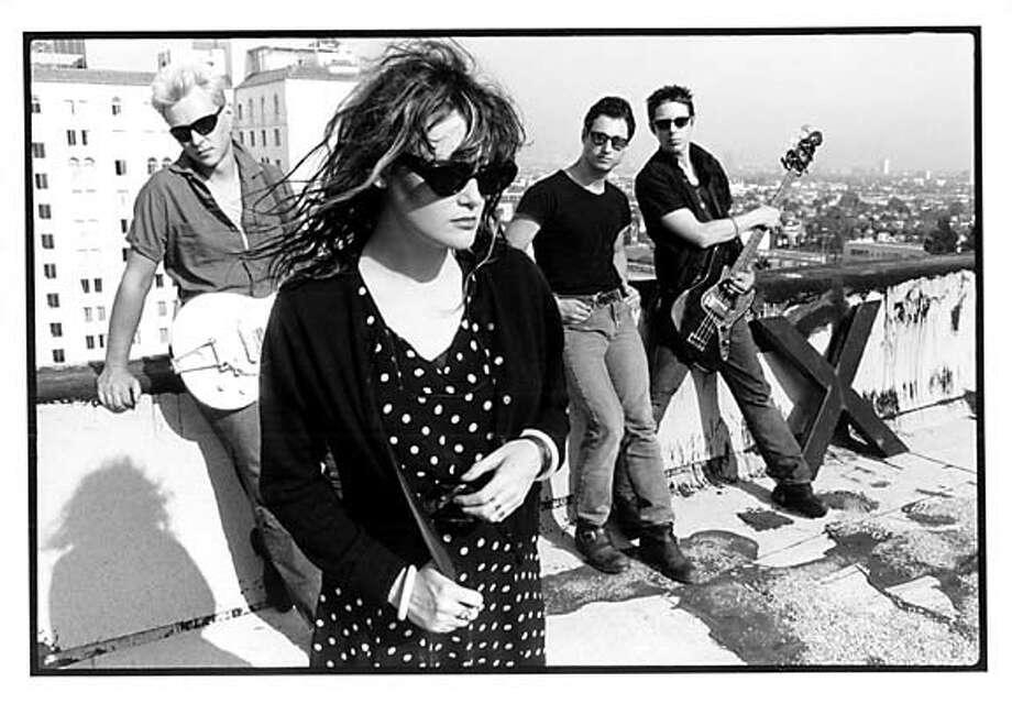 The band X: Billy Zoom, Exene, D.J. Bonebrake, John Doe (left to right).