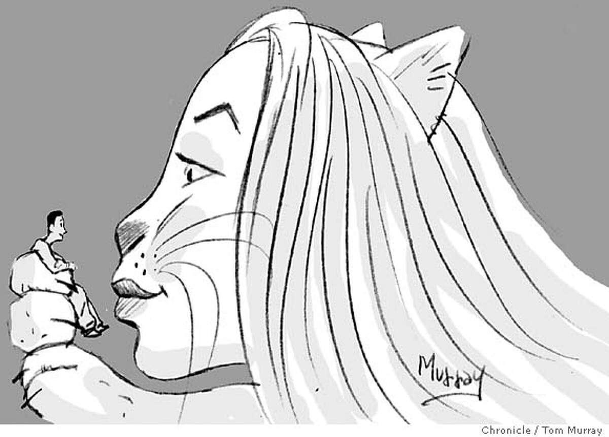 Women like men who like cats. Chronicle illustration by Tom Murray