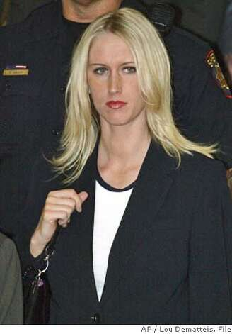 Amber frey former mistress of scott peterson leaves the courthouse