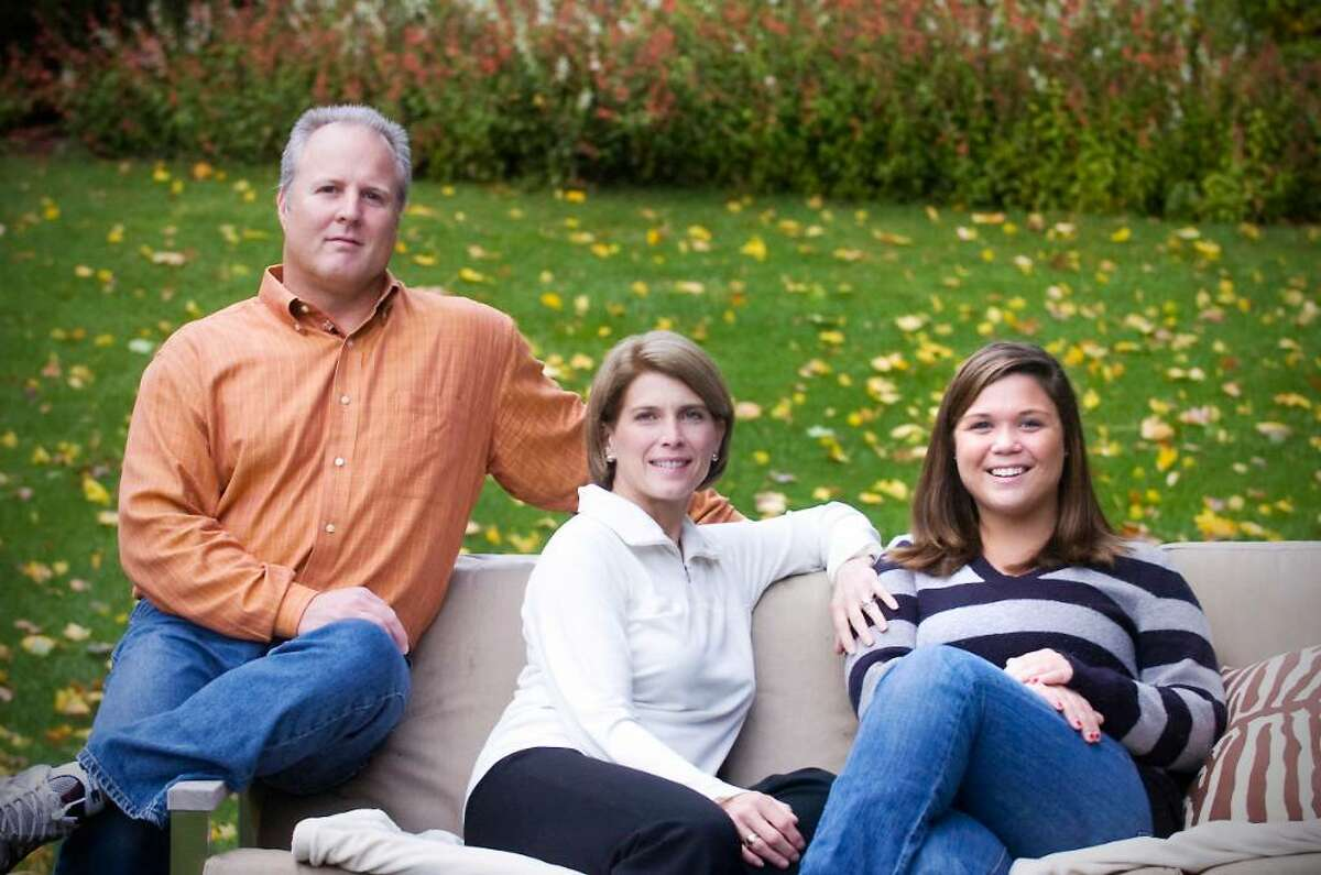 Alex Stevenson, a graduate of Darien High School and now a student at Fairfield University is a recovering drug addict. She was a volleyball player at Darien High School and now plays club volleyball at Fairfield. She sits in her backyard in Darien, Conn. on Wednesday, October 28, 2009 withe her parents Jayme and John