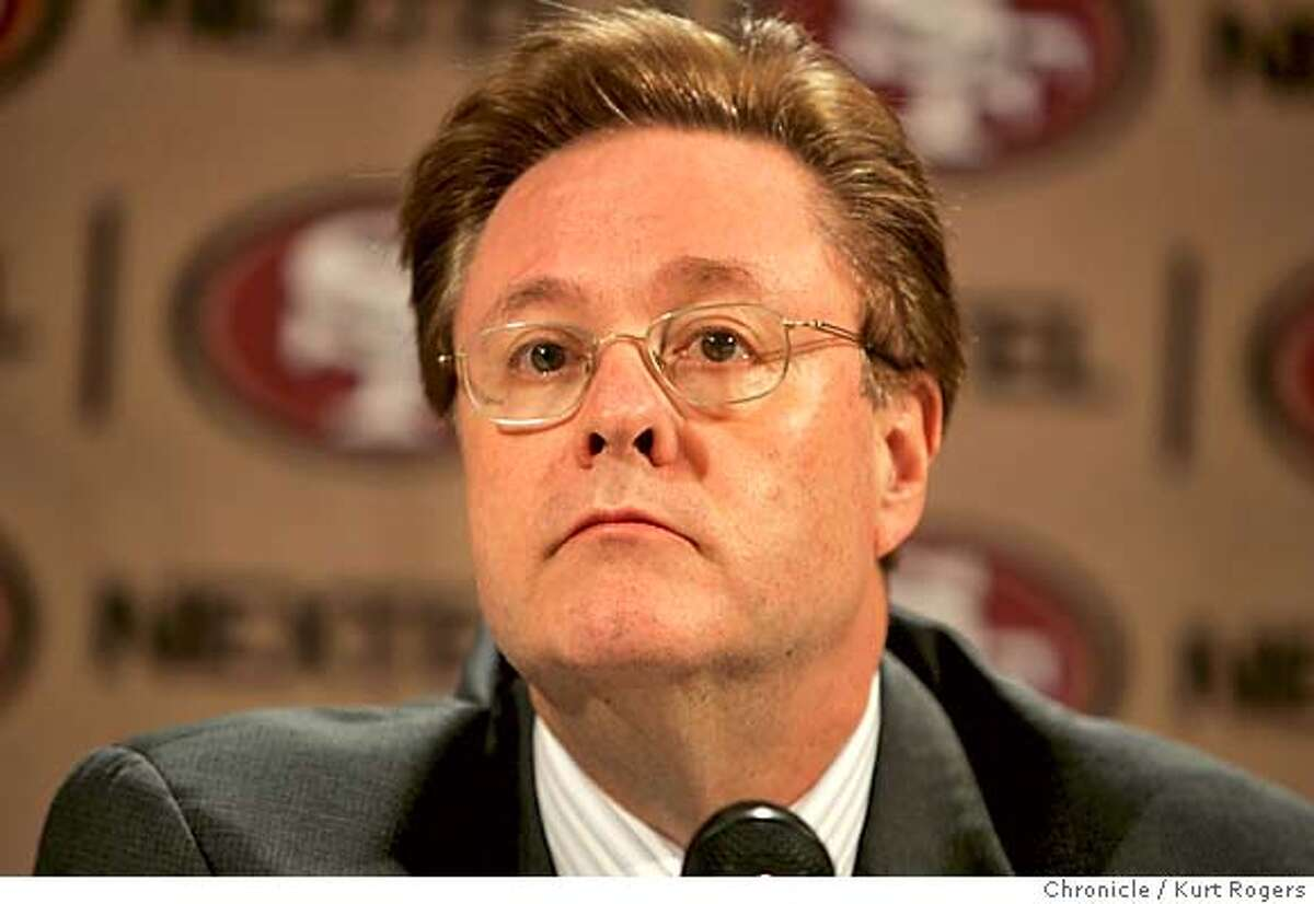 San Francisco 49ers owner John York announced that 49ers Head Coach Dennis Erickson and General Manager Terry Donahue will leave the organization today. YORK_0071_kr.JPG 1/5/05 in Santa Clara,CA. KURT ROGERS/THE CHRONICLE MANDATORY CREDIT FOR PHOTOG AND SF CHRONICLE/ -MAGS OUT