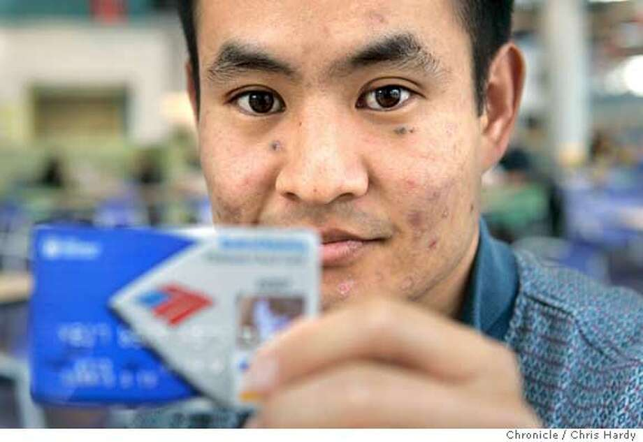Dennis Yu, whose bank account number was recycled and got stuck with someone elses bills in Sunnyvale,CA on1/4/05  San Francisco Chronicle/Chris Hardy Photo: Chris Hardy