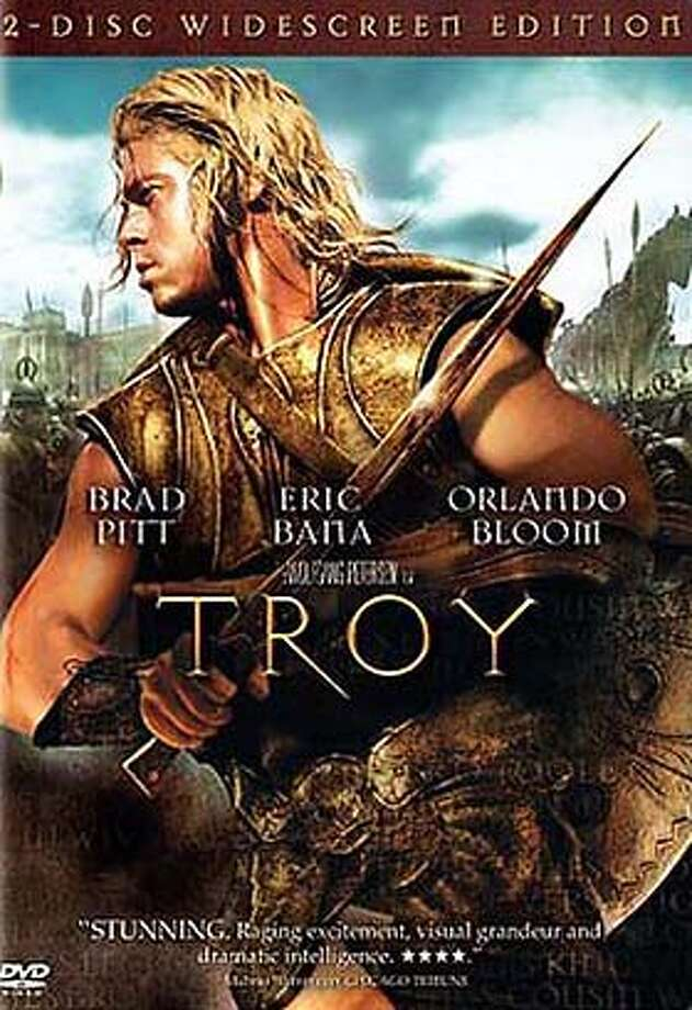 "DVD cover art for, ""Troy"" DVD."