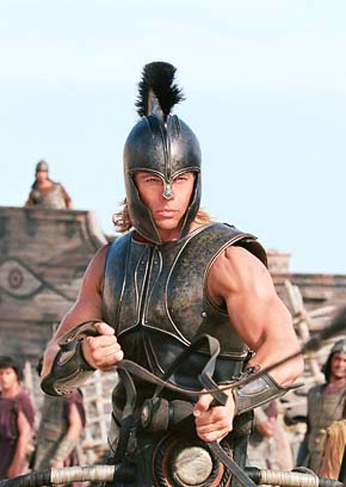 """BRAD PITT stars as 'Achilles' in Warner Bros. Pictures' epic action adventure """"Troy,"""" also starring Eric Bana and Orlando Bloom. PHOTOGRAPHS TO BE USED SOLELY FOR ADVERTISING, PROMOTION, PUBLICITY OR REVIEWS OF THIS SPECIFIC MOTION PICTURE AND TO REMAIN THE PROPERTY OF THE STUDIO. NOT FOR SALE OR REDISTRIBUTION."""
